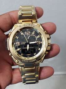 Relógio Reneda G-shock Dourado Fundo Preto Grande