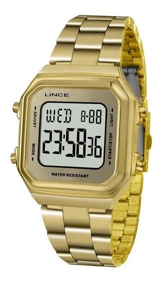 Relógio Lince Dourado Feminino Sdg616l Bxkx Digital