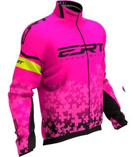 Corta Vento Ert Team Rosa 2020 Ciclismo Lançamento Mtb Bike