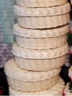 Paquete De 100 Piezas De Tortillero Natural Artesanal