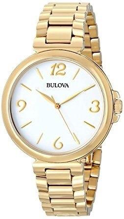 Relogio Bulova Feminino 97l139 Dourado Original