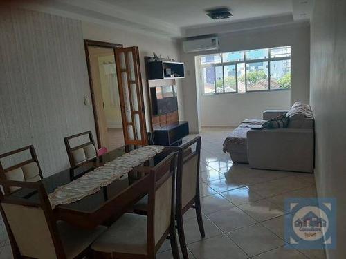 Apartamento Com 2 Dormitórios À Venda, 110 M² Por R$ 456.000,00 - Campo Grande - Santos/sp - Ap5785