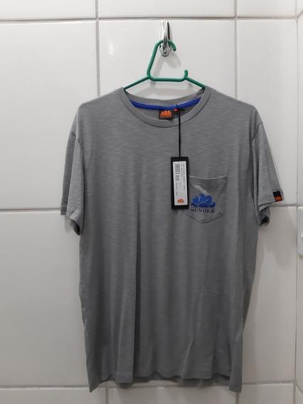 Camiseta Sundek Original Importada Cinza