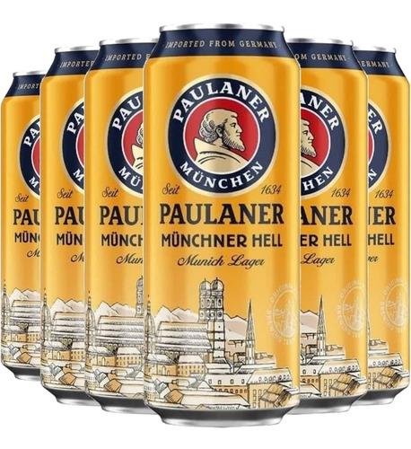 Imagem 1 de 3 de 6x Cerveja Alemã Paulaner Munchner Hell Lata 500ml