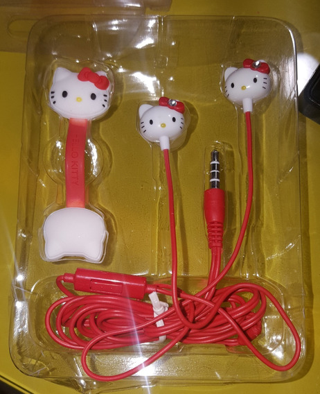 Audifonos Celular Manos Libres Hello Kitty Original Sanrio
