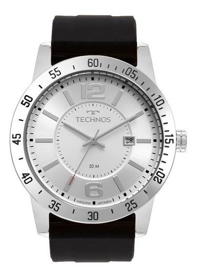Relógio Technos Masculino Preto Prata 2115mul/8k Original