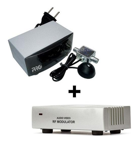 Kit Ponto Escravo Extensor Controle Remoto + Modulador