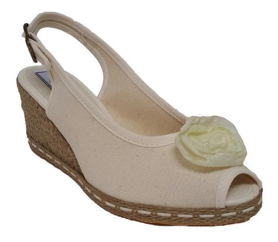 Sandalias De Mujer Con Flor Y Taco Chino - 305