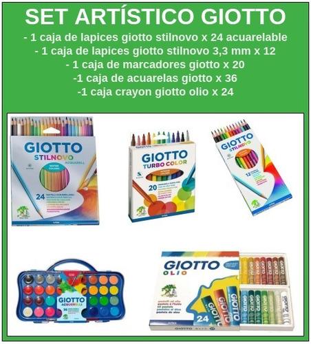 Set Artistico Nº 3 Giotto 5 Productos Premium 116 Piezas