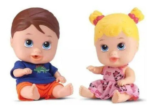 Kit Bonecos Little Dolls Gêmeos - Menino E Menina Em Vinil