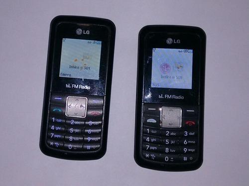 2 Celular LG Kp-106b Usado Vivo E Tim Sem Carregador Leia