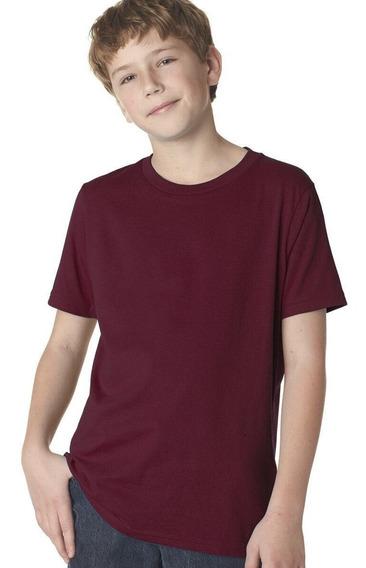 Kit 4 Camiseta Infantil Básica Lisa Várias Cores 8 A 14 Anos