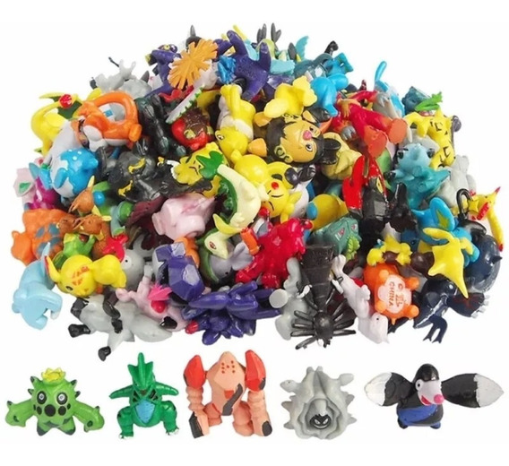 Kit 24 Pokemon Go Miniaturas Bonecos 2~3 Cm Sortido Pikachu