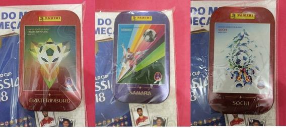 Latinha Lata Pocket Panini Copa Do Mundo 2018 Orçamento Mín.
