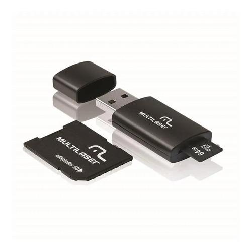 Imagem 1 de 2 de Cartão De Memória 64gb Kit Adaptador Multilaser Mc115