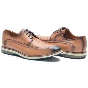 Sapato Casual Masculino Nv Paris-couro-caramelo-ref 1200 P
