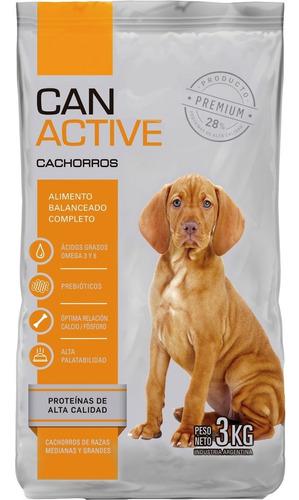 Imagen 1 de 4 de Alimento Completo Perro Cachorro Canactive 20kg