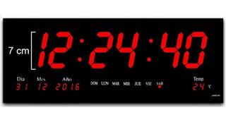 Panel Digital De Pared Led Con Calendario Y Alarma