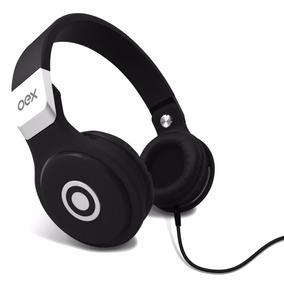 Fone Ouvido Headphone Oex Hp102 Microfone Dobrável Preto