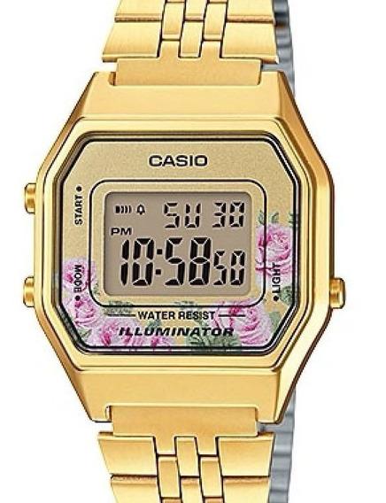Relógio Casio Vintage Feminino Dourado La680wga-4cdf-br