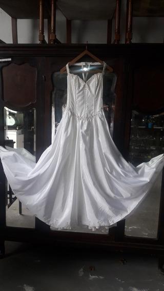 Vestido De Fiesta 15 Años Blanco Canutillos 1