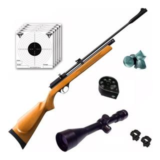 Rifle Aire Comprimido Fox Cr600 Co2 Drago Cargador Mira 4x40