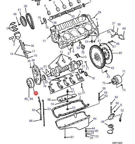 3857474 Polia Dumper 7.4 8.2 Volvo Penta
