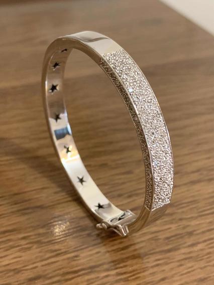 Pulseira Ouro Branco E Diamantes - Linda !