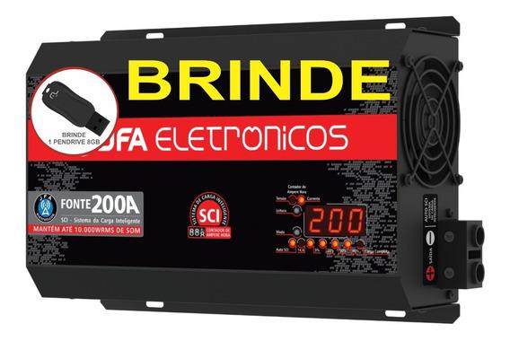 Fonte Automotiva 200a Jfa Carregador Modelo Novo Pro