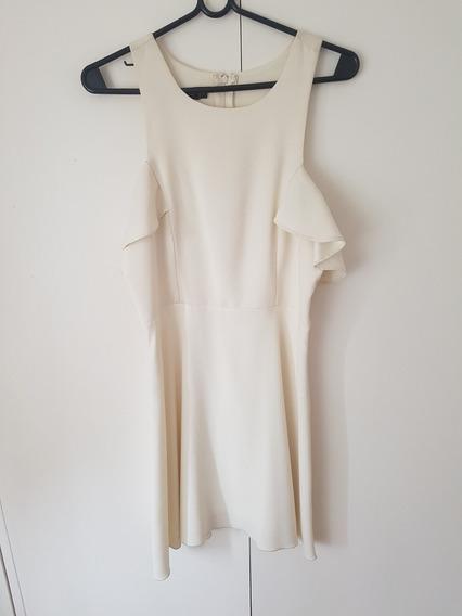 Vestido Para Fiestas / Casamientos Color Crema -corto