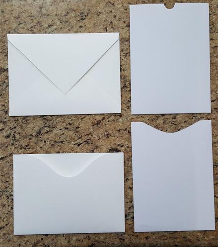 Imagem 1 de 6 de 50  Envelopes Para Convites Branco Texturizado 15x21 Cm.