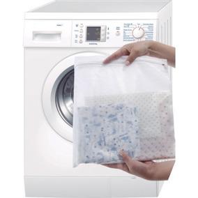 10 Sacos Para Lavar Roupas Delicadas Protege Zíper 40x50cm