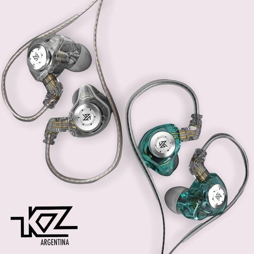 Imagen 1 de 6 de Auriculares In Ear Kz Edx Pro Cable Ofc Con Microfono Cuotas