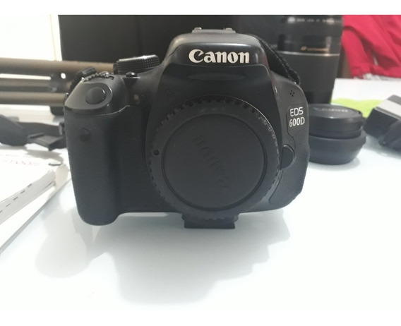 Câmera Canon Eos 600d + Acessórios