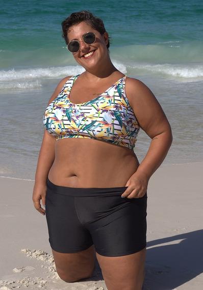 Top Tipo Deportivo Estampado Bikini Curvy