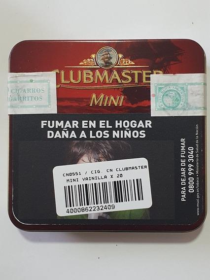 Lata Clubmaster Mini 20 Cigarritos Vainilla