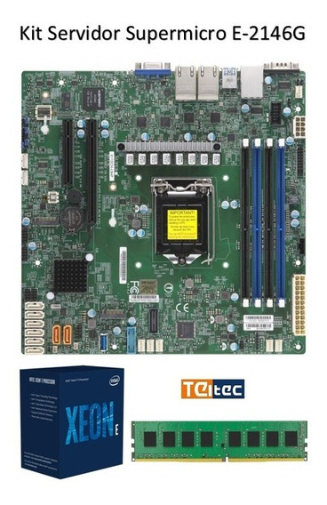 Kit Servidor Xeon E2146-g + 16gb + Cooler