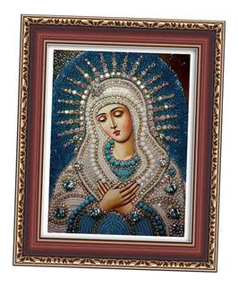 Kit Para Hacer Cuadro Decorativo De Punto Cruz, Virgen 9a