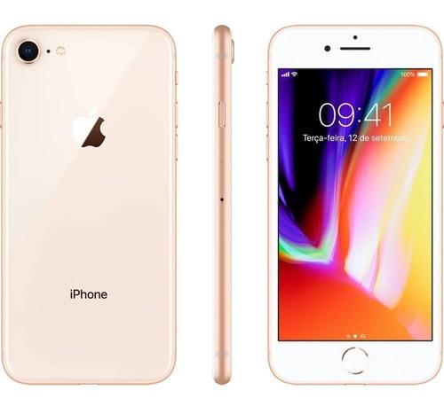 Seminovo: iPhone 8 64gb Dourado Tela 4.7  Câmera 12mp - Laol