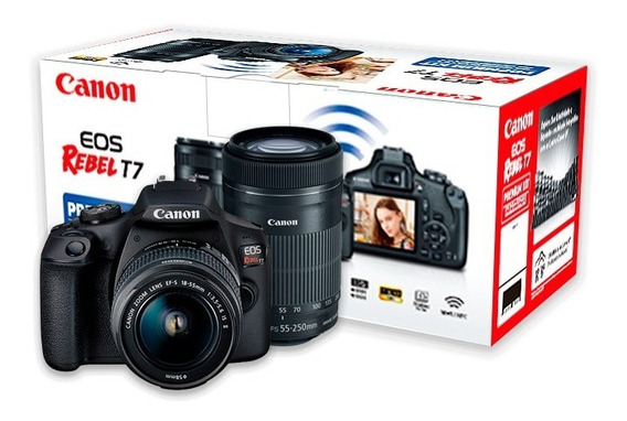 Canon T7 Premium 18-55mm + 55-250mm Garantia Novo