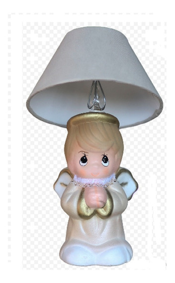 10 Lámpara Centro De Mesa Bautizo Baby Shower Recuerdo Angel