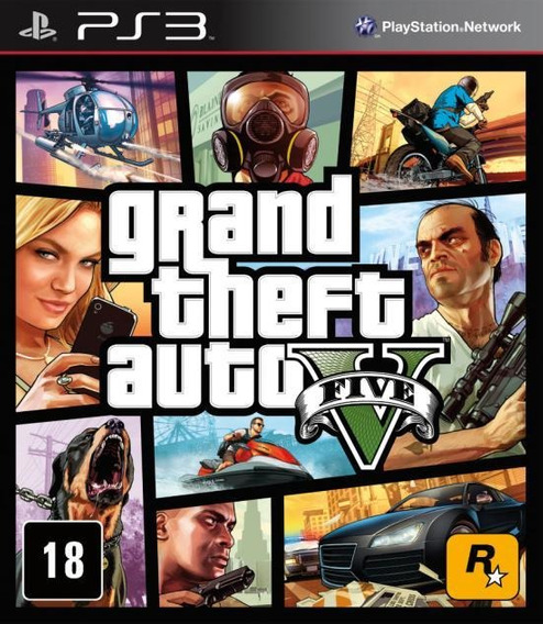 Grand Theft Auto V Gta V Ps3 Mídia Física 12x