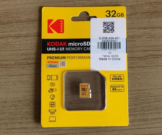Cartão De Memória Micro Sd 32gb Kodak
