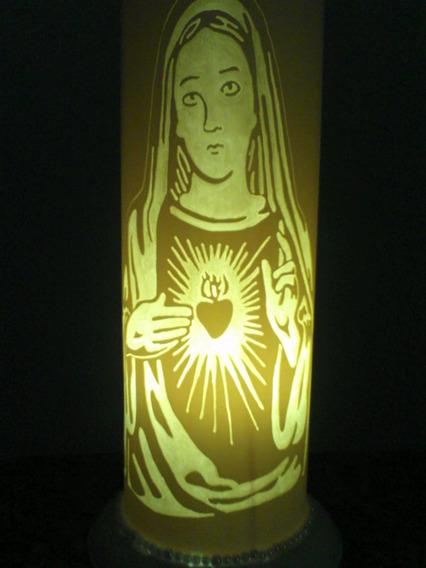 Luminária Pvc Sagrado Coração De Maria