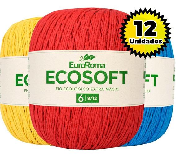 Barbante Euroroma Ecosoft Nº6 400g - Kit 12 Unid. Lançamento
