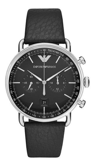 Relógio Empório Armani Masculino Aviator Prata Ar11143/0pn
