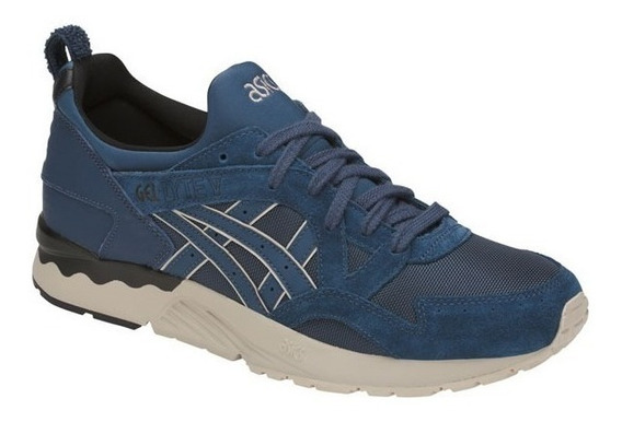 Asics Gel Lyte V Dark Blue Casual Academia Sneakers Retro