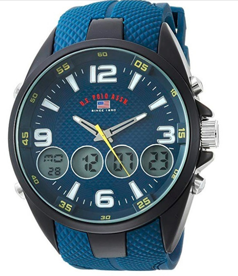Relógio Masculino Us Polo Assn Modelo Us9598 Azul