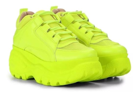 Tênis Sneaker Buffalo Feminino Plataforma Conforto 50%...