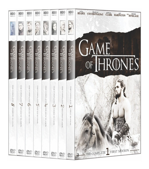 Box Game Of Thrones 1ª A 8ª Temporada Dublado - Box 38 Disco